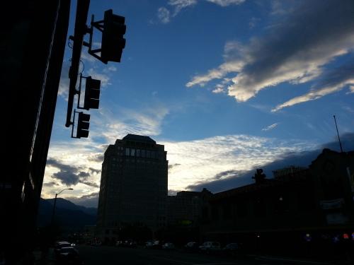 Sunset Downtown Colorado Springs