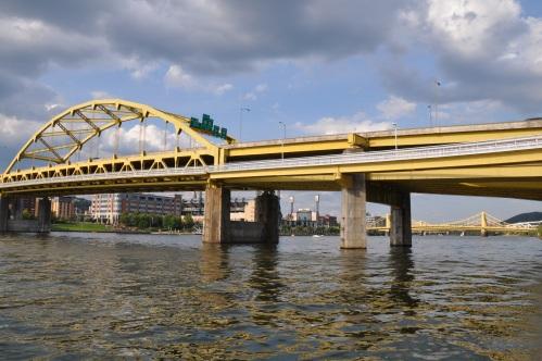 Pittsburgh Skyline cityscape bridge river
