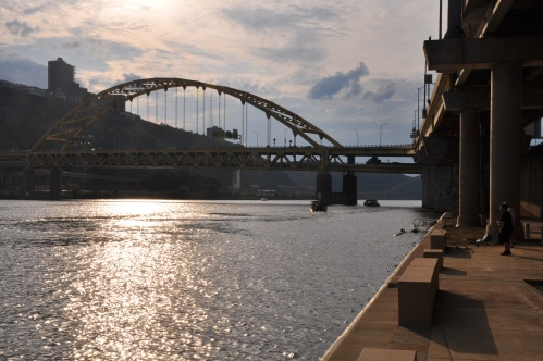 Fishing Pittsburgh Monongahela River Sunset