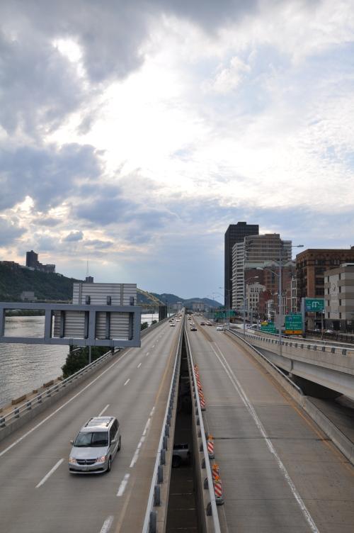 Pittsburgh Steel Bridge Monongahela River Highway