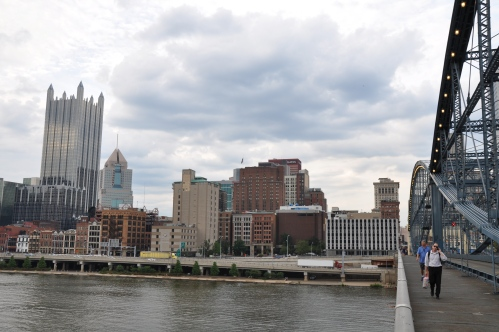 Pittsburgh Skyline Steel Bridge Monongahela River