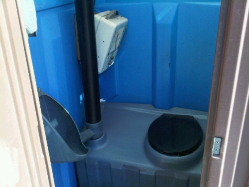 Minnesota Porta Potty with a space heater