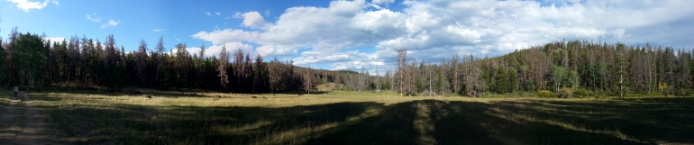 Panoramic view of a valley in Colorado