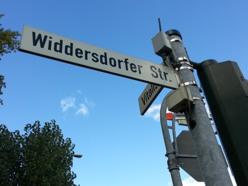 Street sign in Germany