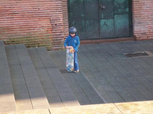 German kid skateboarding