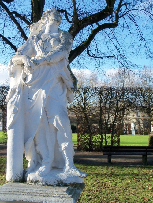 The Palace of Trier Garden Marble Statue