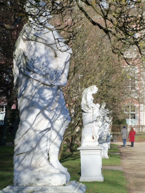 The Palace of Trier Garden Marble Statues