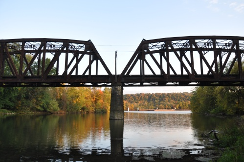 Steel Bridge Changing Leaves Pennsylvania