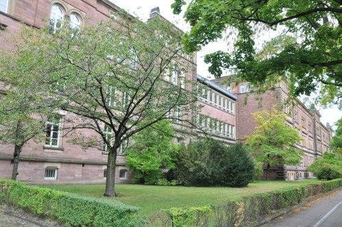 brick buildings in Karlsruhe, Germany
