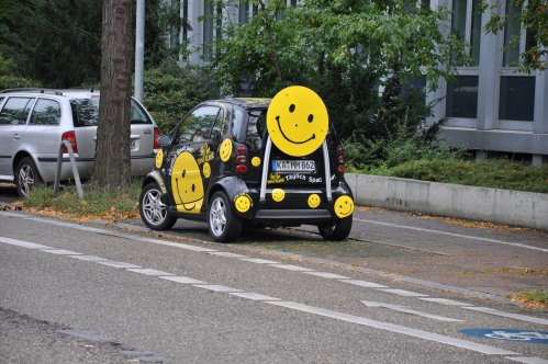 Smiley face smart car
