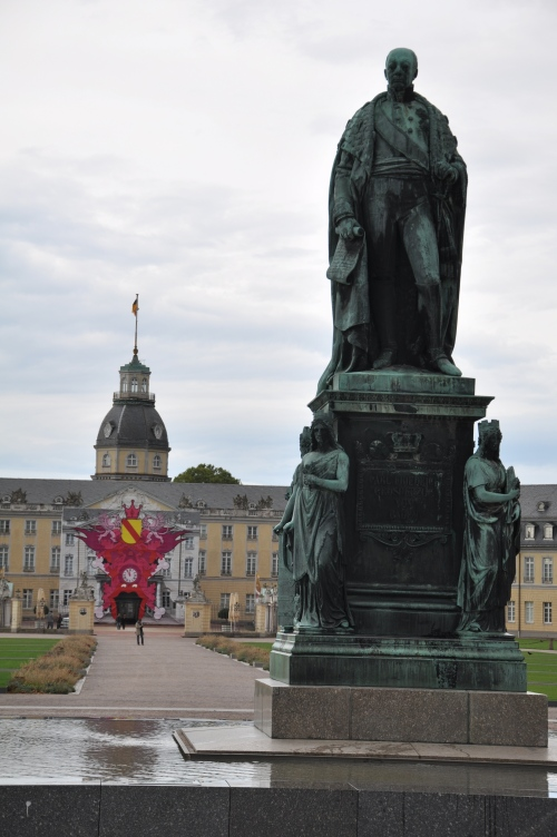 Statue at the Schloss Karlsruhe