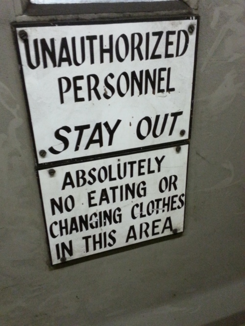 Unauthorized Personnel sign in a power plant