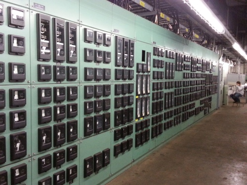 Relay room in a power plant