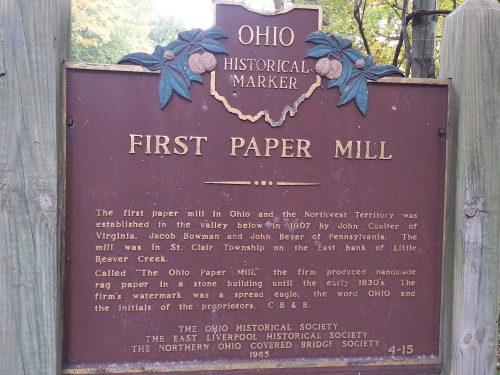 Ohio First Paper Mill Sign...