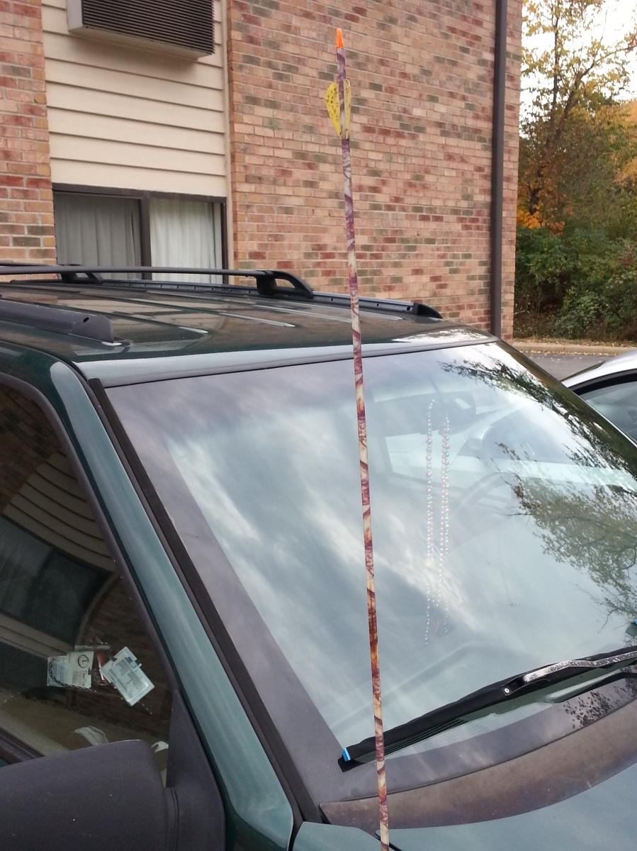 Car with Arrow for antenna.