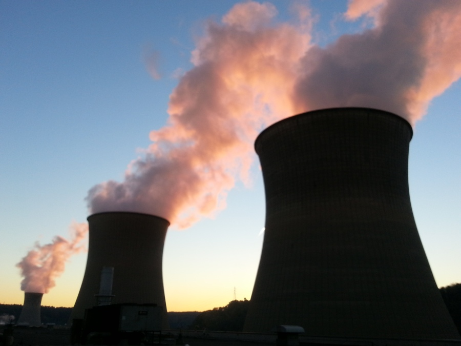 Power Plant Sunset