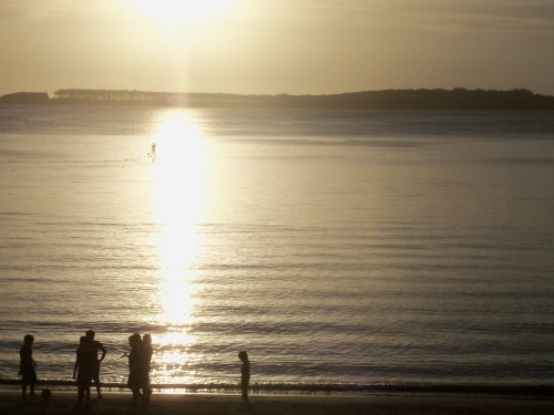 sunset Punta del Este, Uruguay