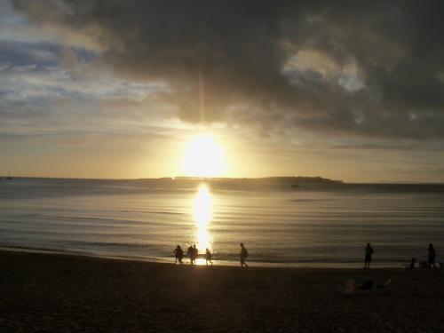 sunset on the beach Punta del Este, Uruguay
