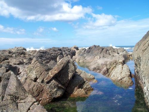 rocky beach in Punta del Este, Uruguay