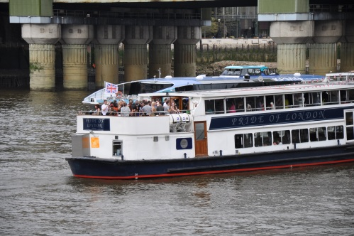 Apparently the Pride of London is a shitty party cruise.