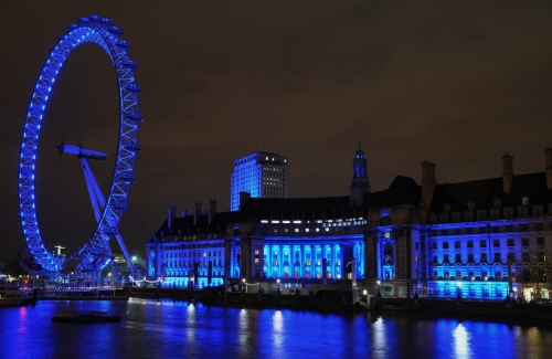 london - the london eye and big ben