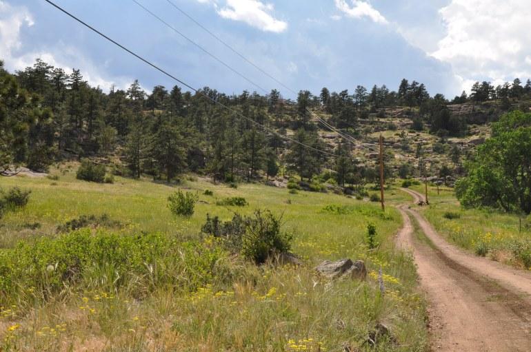 Mountain Road in Colorado